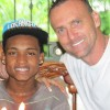 Costa Rica Charlie Celebrating Birthday with Foster Son Jhonny