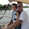 Costa Rica Charlie Boating in Florida with his Son
